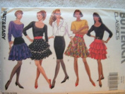MISSES SKIRT - SIZE 6-8-10 - RATED VERY EASY BUTTERICK CLASSICS FAST & EASY SEWING PATTERN #5183