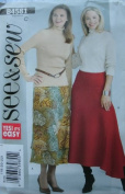 MISSES SKIRT SIZES 18-20-22 EASY SEE & SEW BY BUTTERICK B4581
