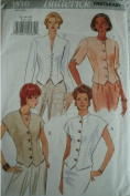 MISSES TOPS WITH VARIATIONS AT NECKLINE AND SLEEVE SIZES 12-14-16 BUTTERICK FAST AND EASY PATTERN 3510 RATED VERY EASY TO SEW
