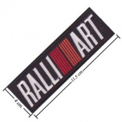 Mitsubishi Ralliart Racing Logo Embroidered Iron on Patch Byluk99