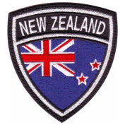 New Zealand Crest Badge Flag Embroidered Sew On Patch
