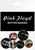 Pink Floyd - 6 Piece Button / Pin / Badge Set