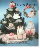 ROMANTIC ANGELS 'N FANS 20cm ORNAMENTS SEWING PATTERN FROM LUV 'N STUFF