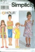 Simplicity 8721 Girls' Size AA