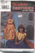 Simplicity Childrens Costumes Fairy Tale Princess Sewing Pattern # 8514