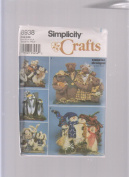 Simplicity Crafts Pattern 8938 ; 43cm Bear Penguin Rabbit Snowman Families