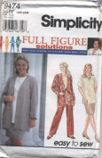 Simplicity Full Figure Solutions Pants, Skirt, Pullover Top Sewing Pattern # 9474