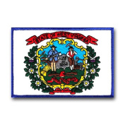 STATE FLAG OF WEST VIGINIA SHOULDER PATCH
