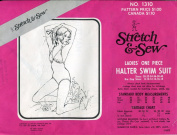 Stretch & Sew Pattern 1310 ~ Ladies' One Piece Halter Swim Suit