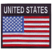 USA Badge Flag Embroidered Sew on Patch