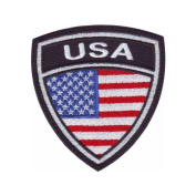 USA Crest Flag Embroidered Sew On Patch
