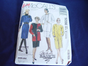 Vintage 1990's McCalls Straight Chemise Dress Tunic Skirt Pattern Sizes 14-16-18 Uncut