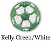 Soccer Ball Iron on Patch Green/White 10-Pack