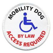 MOBILITY DOG ACCESS REQUIRED Medical Alert 10cm Sew-on Patch