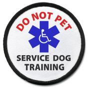 DO NOT PET Black Rim Service Dog 10cm Sew-on Patch