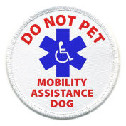 DO NOT PET MOBILITY ASSISTANCE DOG Medical Alert 10cm Sew-on Patch