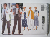 Butterick Pattern 4345 Misses'/Misses' Petite Jacket, Top, Vest, Jumper & Pants Sizes 6-8-10