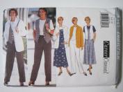 Butterick Pattern 4345 Misses'/Misses' Petite Jacket, Top, Vest, Jumper & Pants Sizes 6-8-10