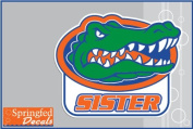 Florida Gators SISTER w/ GATOR HEAD LOGO #1 Vinyl Decal Car Truck Window UF Mom Sticker