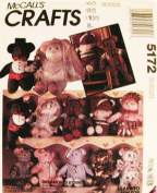 McCall's Crafts Sewing Pattern 5172 ~ 10 Teddy Bears