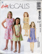 McCall's Easy Pattern M4433. Children's and Girls' Dresses and Jumpsuit Sewing Pattern
