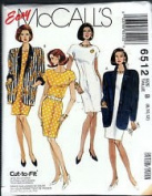 McCall's Pattern #6512 SIZE