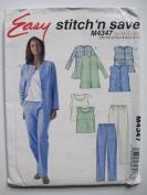 McCall's Pattern M4337 Misses'/Miss Petite Unlined Jacket, Vest, Top, Pants Sizes 8-10-12-14