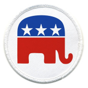 REPUBLICAN Party Elephant GOP Stars and Stripes 10cm Sew-on Patch