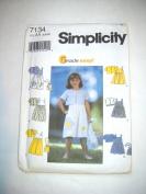 Simplicity Dress-Ups Pattern #7134 Size AA 3,4,5,6