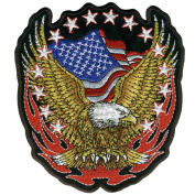 Hot Leathers Eagle Flag And Stars Patch