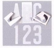Transfer Monogram Company Aligning White Letter I
