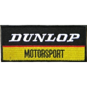 DUNLOP MOTORSPORT ATV REAR MOTORCYCLE TRIES Jacket Sew Embroidered Iron On Patch Great gift For men and woman by KLB TRADE