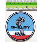 Shelby Cobra Car Racing patch (Blue & Red)T-Shirt Iron on Patch Badge Logo