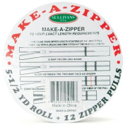 Sullivans 5-1/2-Yard Make-A-Zipper Kit, White