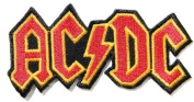 10cm X 5.1cm AC/DC ACDC Heavy Metal Rock Punk Music Band Logo Polo T shirt Patch Sew Iron on Embroidered Costum