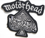 10cm x 8.3cm motorhead ACE of SPADES Heavy Metal Rockabilly Rock Punk Music Band Logo jacket T-shirt Patch Iron on Embroidered music patch by Tourlesjours