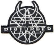 10cm X 8.9cm DISTURBED Belived Heavy Metal Rock Punk Music Band Logo Polo T shirt Patch Sew Iron on Embroidered Sign Badge music patch by Tourlesjours