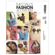 McCall's Patterns M5901 Brooches, Belt, Necklaces, Headband, Bags and Scarf With Yo-Yo Treatments, One Size Only