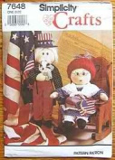 Simplicity Crafts 7648 Uncle Sam and Betsy Ross