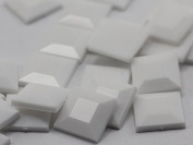 15mm White Chalk .WHT Flat Back Square Acrylic Jewels High Quality Pro Grade - 30 Pieces