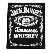 Jack daniels hennessee logo II Embroidered Iron On / Sew On Patch