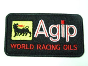 Agip World Racing Oil Motor Patches Embroidered Patch SIZE : 6.4cm x 11cm