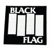 Black Flag logoI Embroidered Iron on Patch