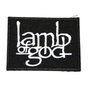 Lamb of God Rock Music Band Logo Iron on Patch Great Gifr for Men and woman by KLB TRADE