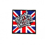 Punk Rules Logo Iron on patch great gift for Men and woman by KLB TRADE