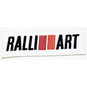 Ralli Art(white) Logo Iron on Patch Great Gift for Men and Women