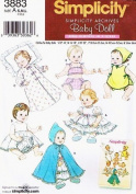 Simplicity 3883 Baby Doll Clothes Archive Sewing Pattern in Three Sizes