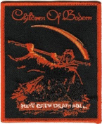 Children of Bodom - Hate Crew Death Roll - Red Embroidered Iron On Patch