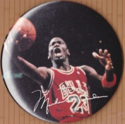 Michael Jordan Pro Basketball Button