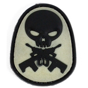 Rebel Tactical RT-GS-BK GUN SKULL Morale Patches